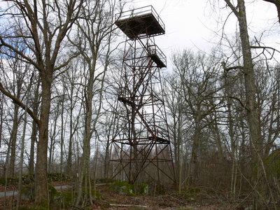 Luftbevakningstorn i järn för optisk luftbevakning