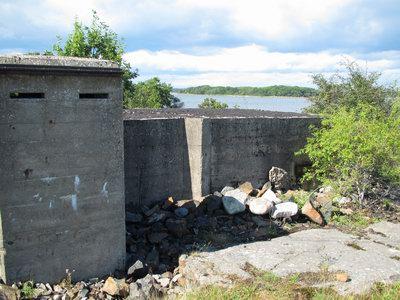 Bottenslingstation på Tärnö för övervakning av en vattenväg till Karlshamn